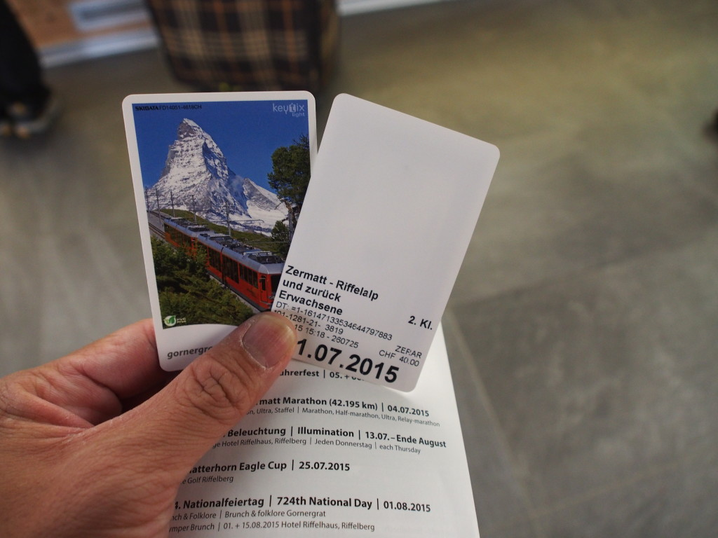 Tickets to Riffenalp.