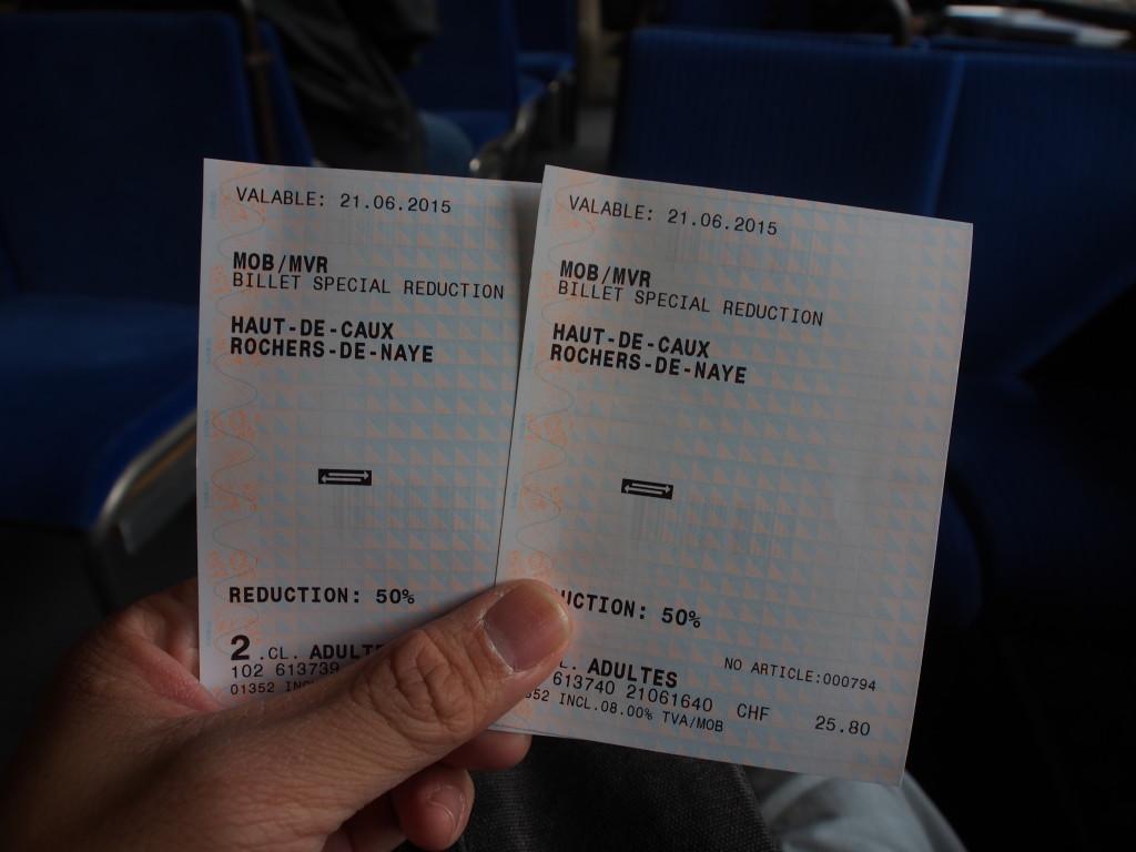 Train tickets.