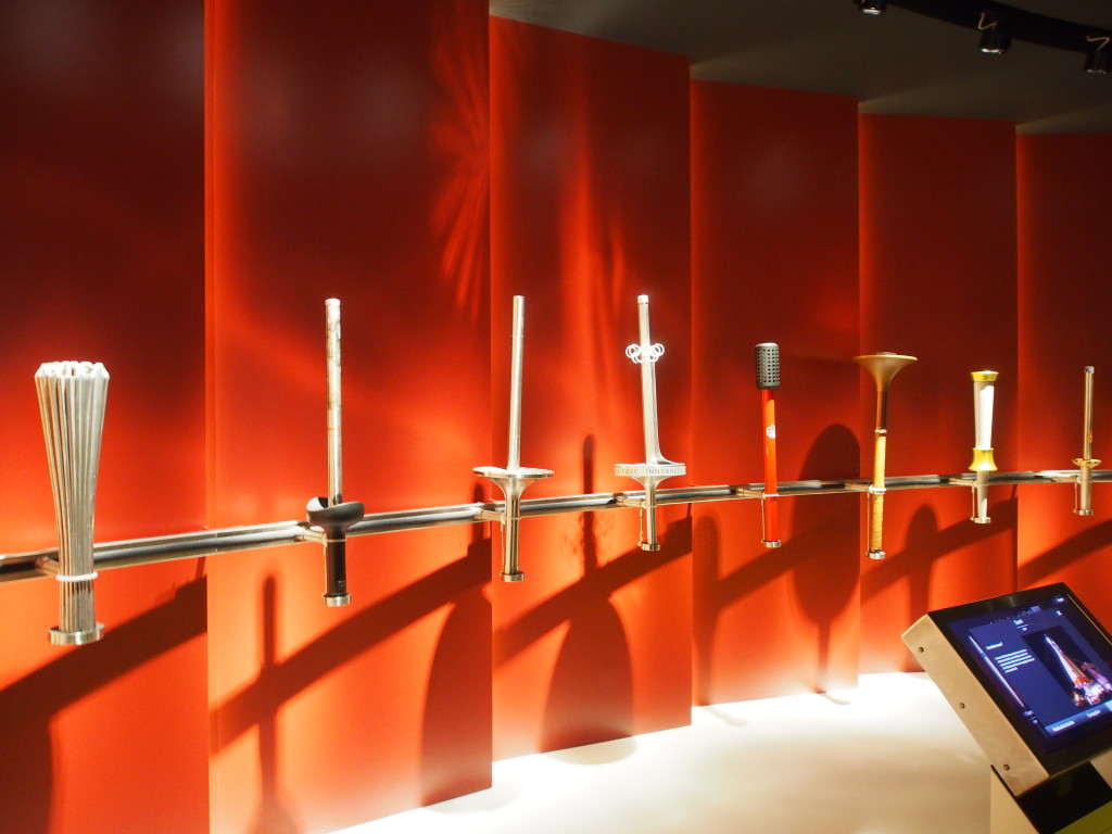 The various olympic torches replica.