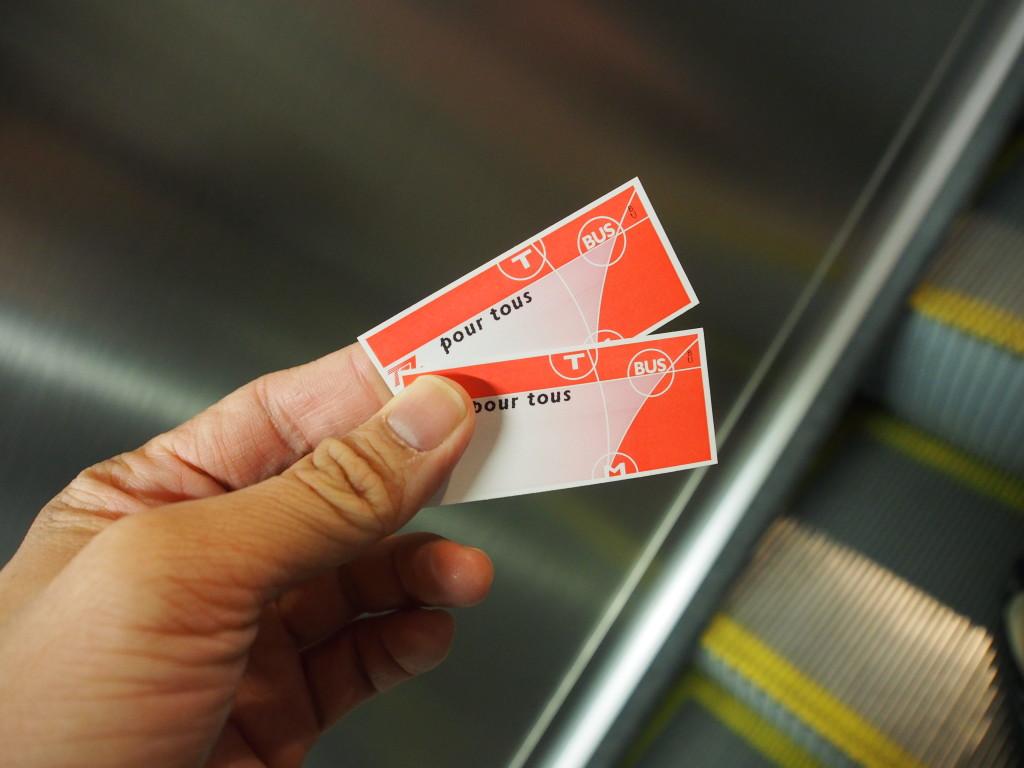 Tram tickets.