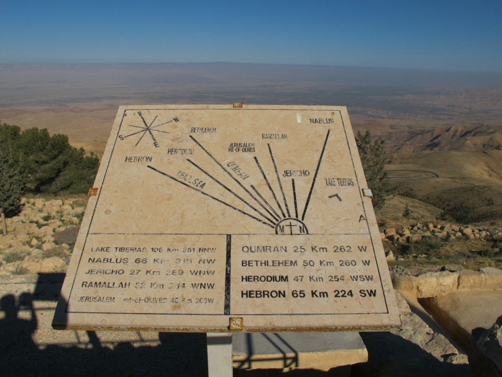Atop of Mt Nebo with reference to other locations.
