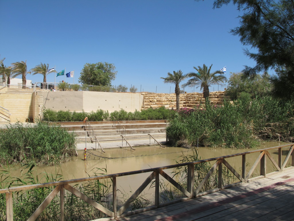 The small river separated Israel and Jordan.