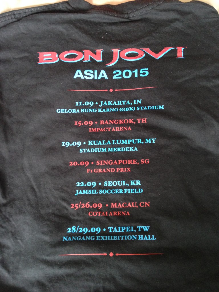 List of countries included in the tour.