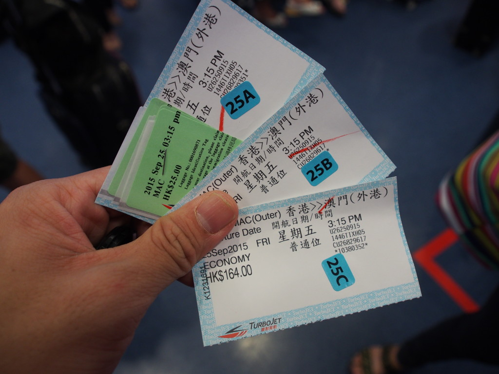 Tickets with the seats allocation stickers.