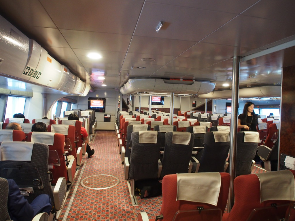 Spacious inside of the jet cruise.