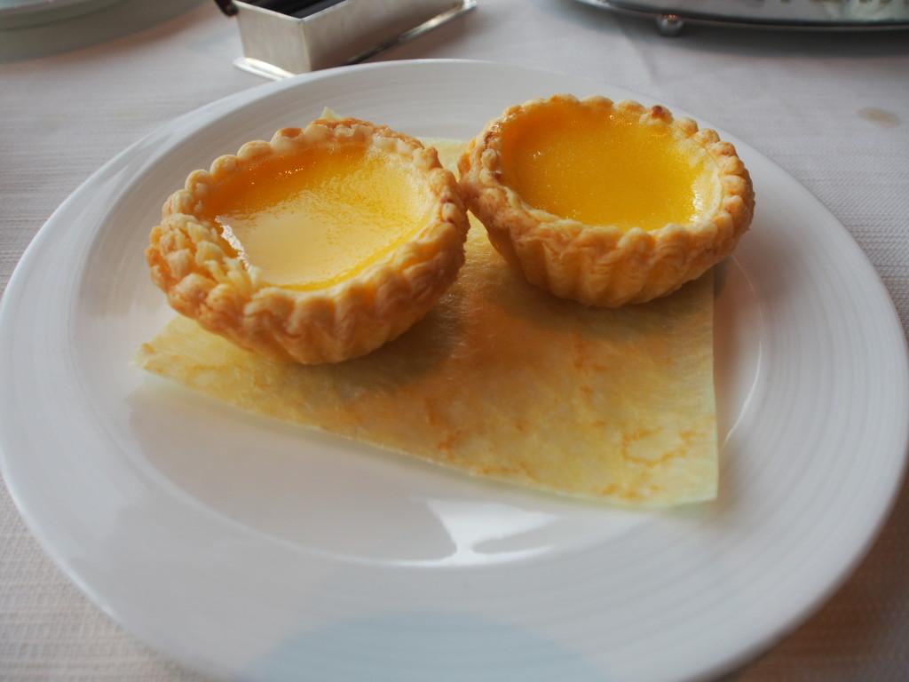 Crispy egg tart.