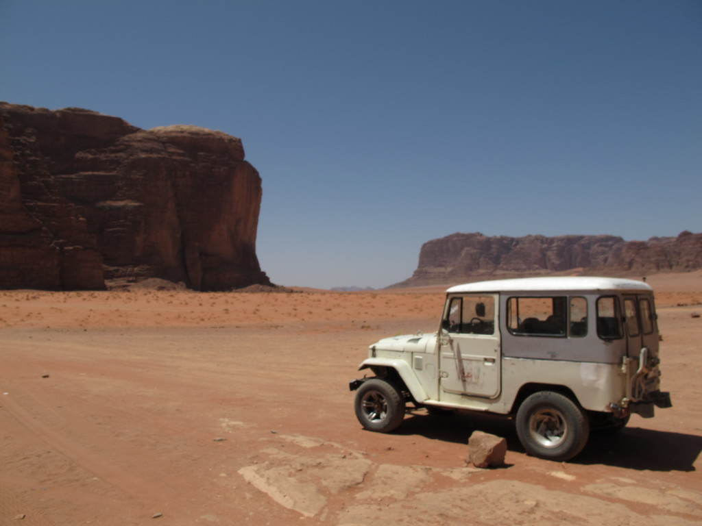 Our deep in the Wadi Rum.