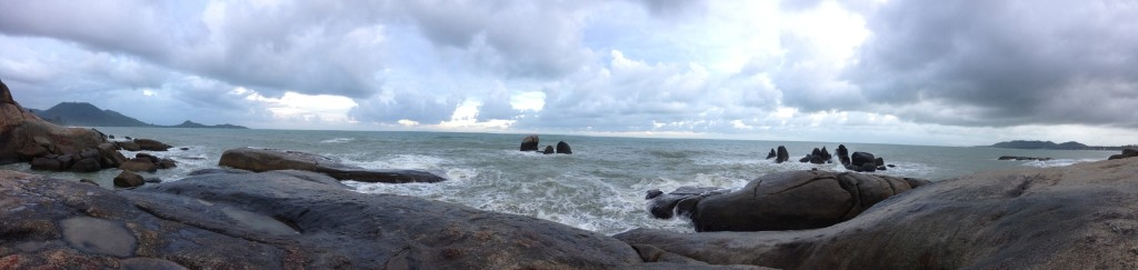 Panoramic view of the sea.