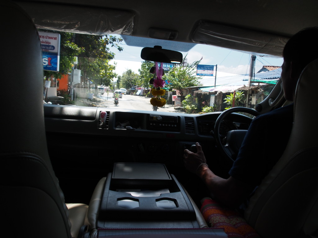 View from the minibus.