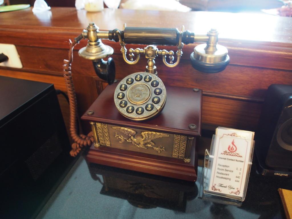 Old school telephone.