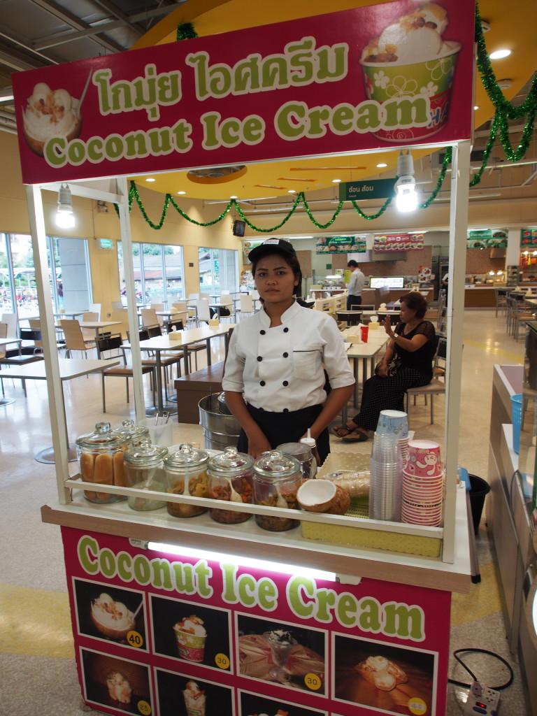 Coconut ice-cream stall.