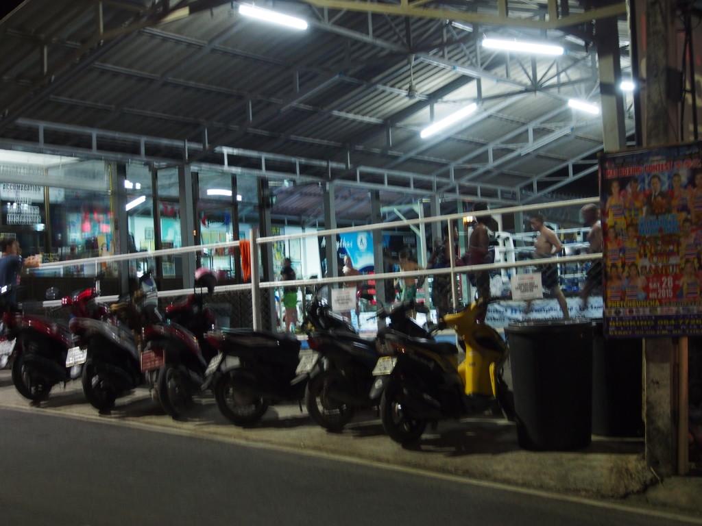 Muay Thai, where fighters were training.