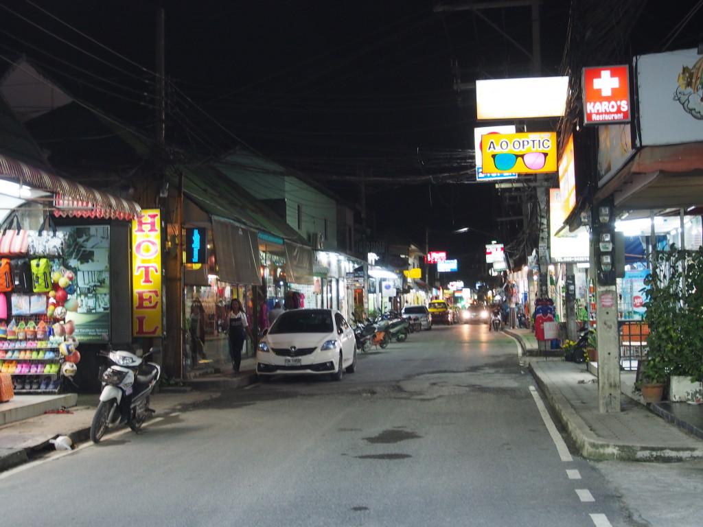 Quiet streets in Lamai.