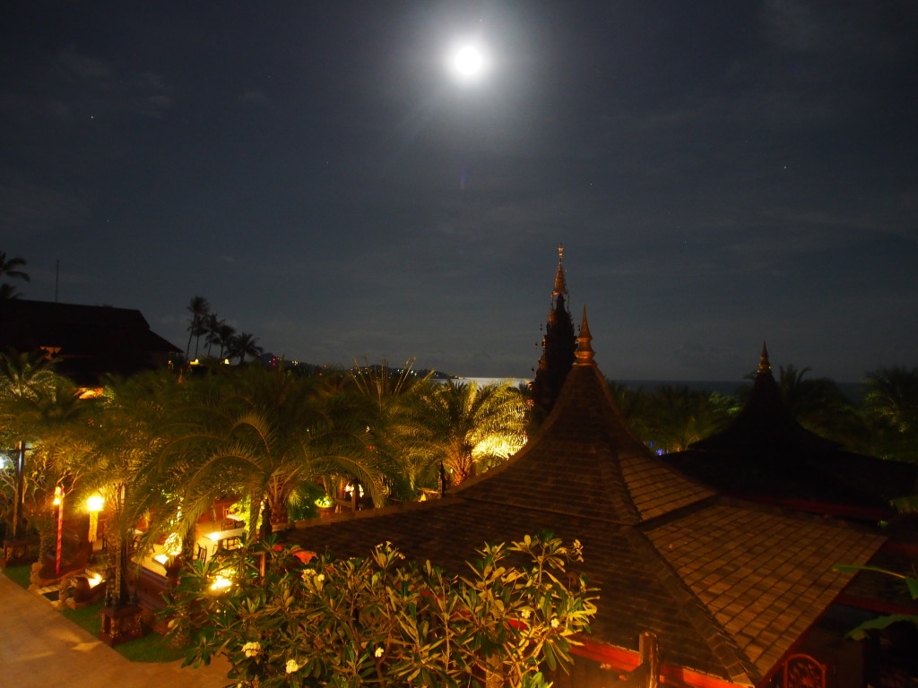 Night view from the pool.