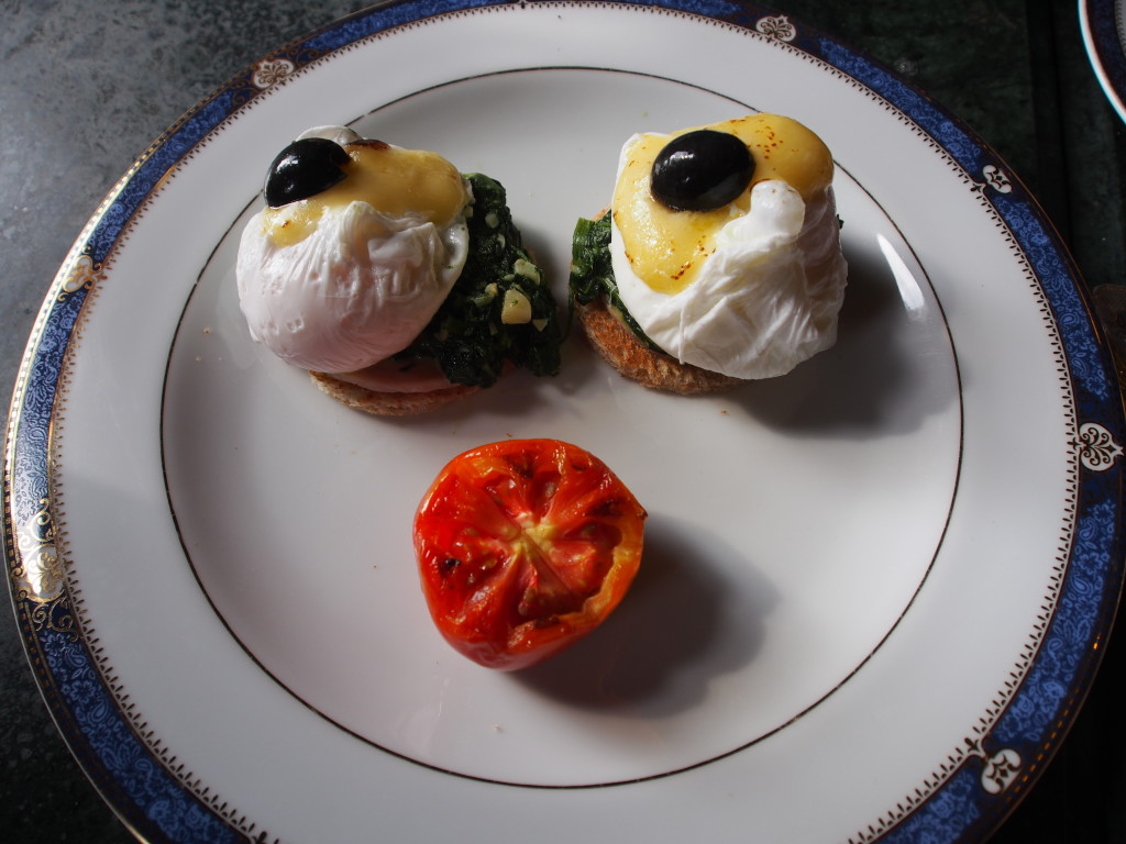 Eggs benedict smiley.