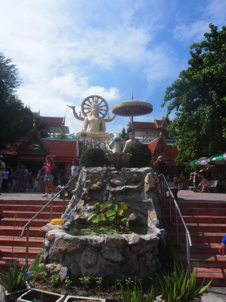 Big Buddha sat atop a little hill.