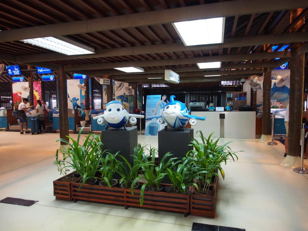 Airport mascots.