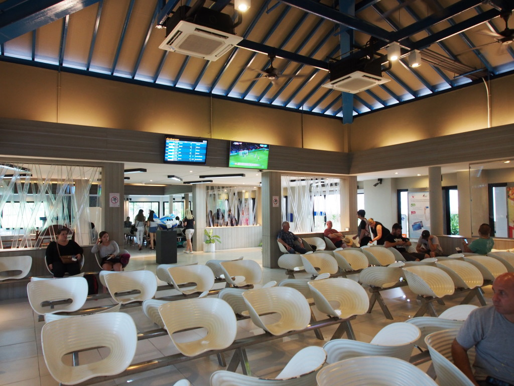 Waiting area at the gate.