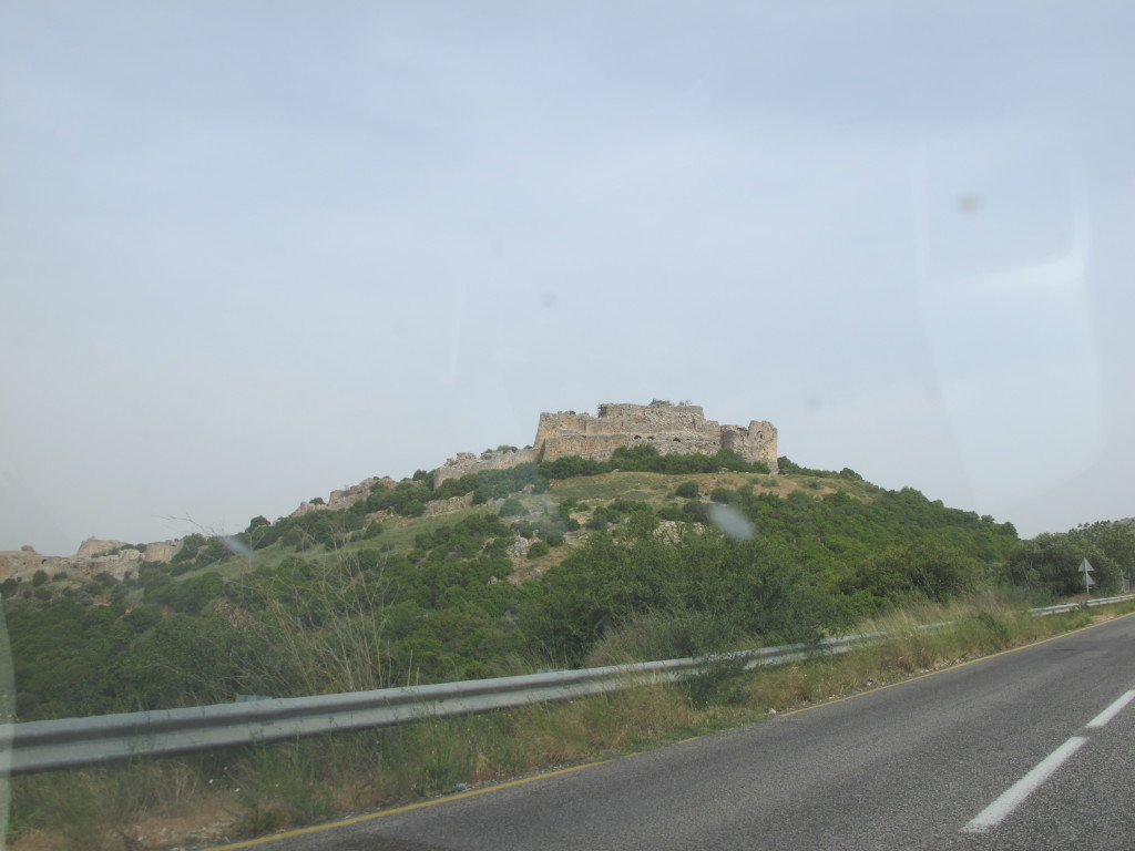 Nimrod fortress perched on a hill.