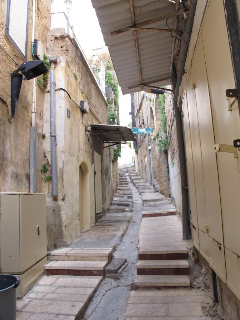 Narrow corridors in Nazareth.