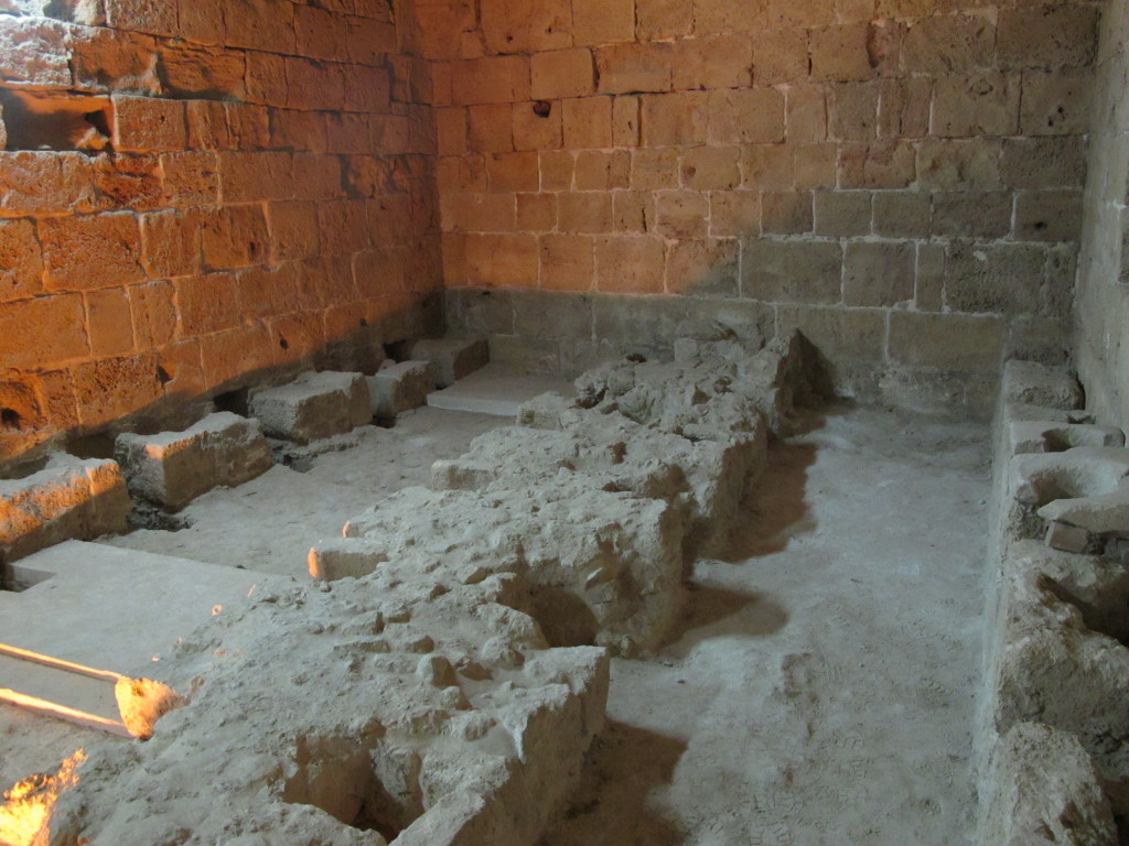 Latrines used by the crusaders.
