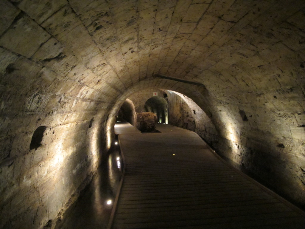 Underground tunnels used by crusaders