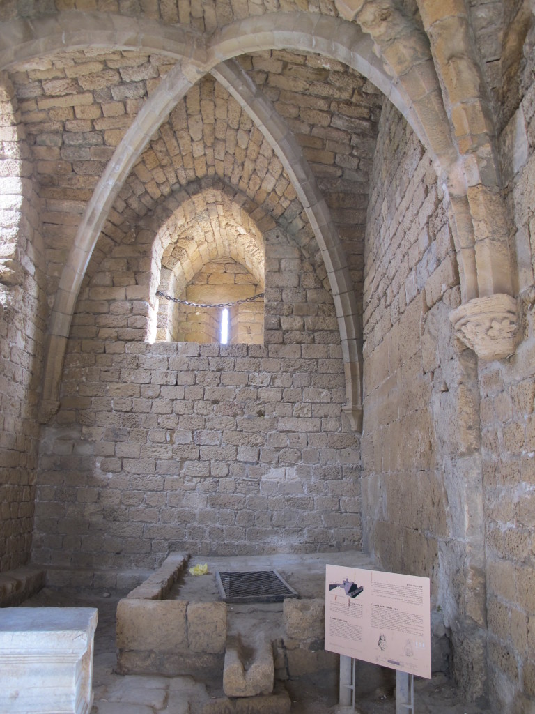 Arches in Caesarea. On the ground was some drainage system.