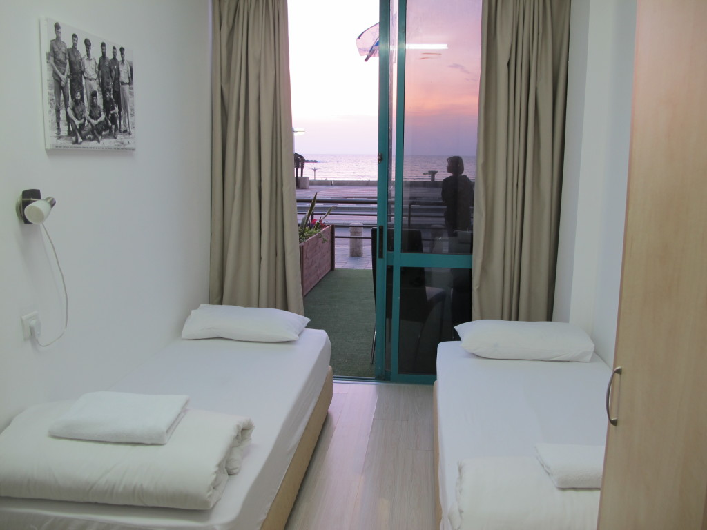 Long slender room in Tel Aviv.