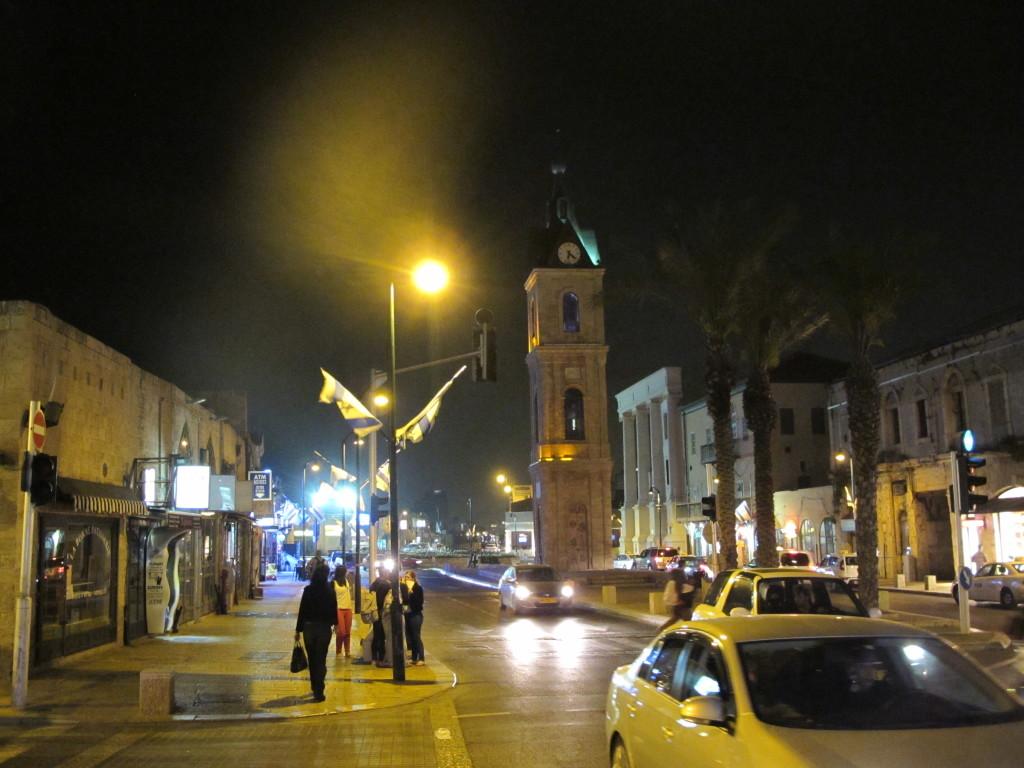 Modern street of Jaffa.