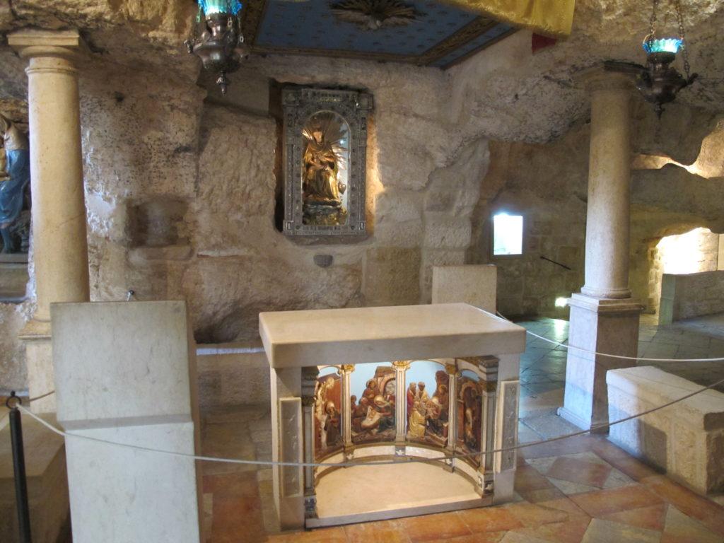 Altar in the Milk Grotto.