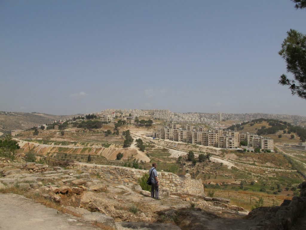 Extension of Israeli's settlements into PA land.