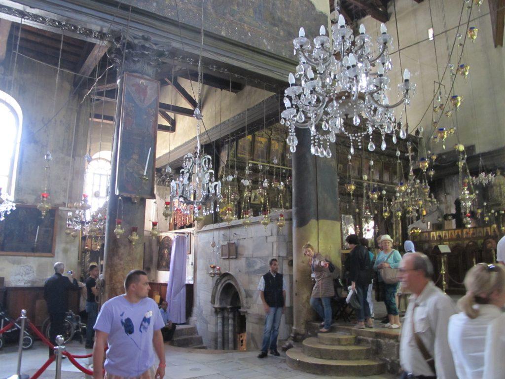 Inside the Church of Nativity.
