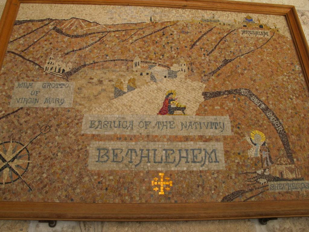 Mosaic with Bethlehem.