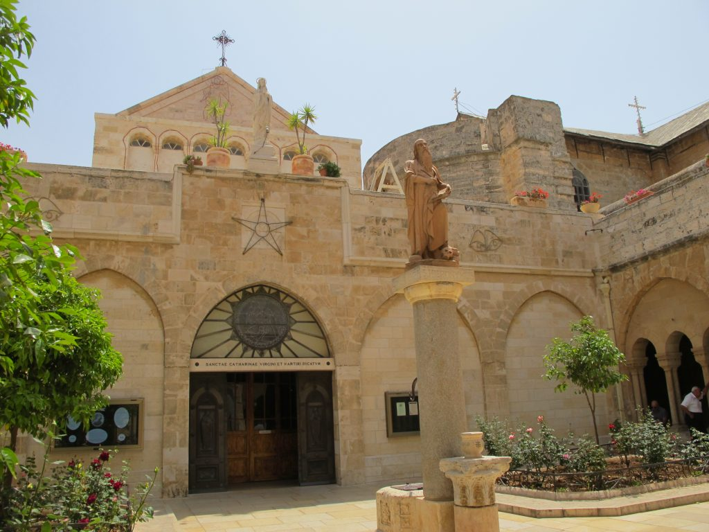 The main entrance of the Church of Nativity.