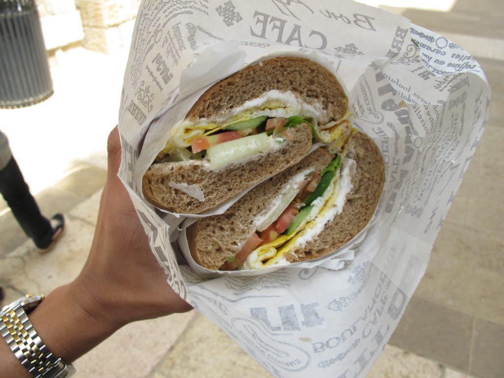 Lunch back at Alrov Mamilla mall.