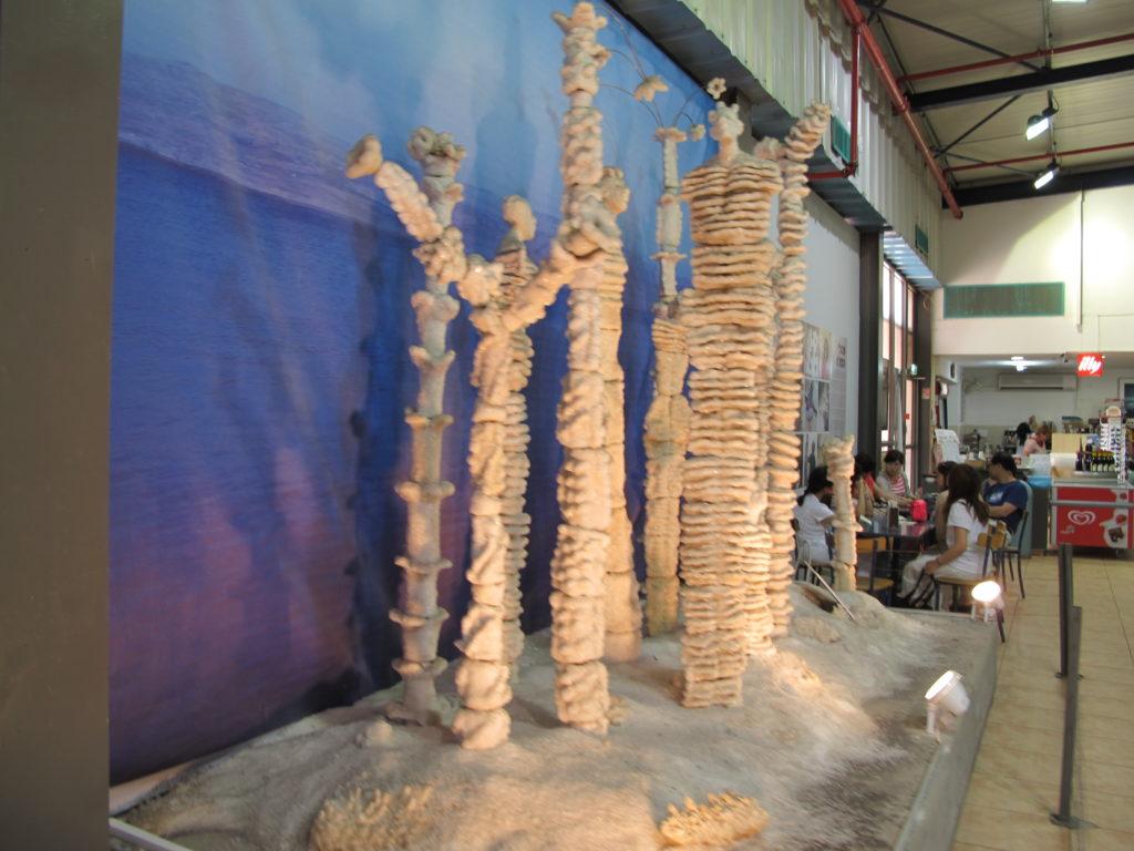 Statues made of Dead sea salt.