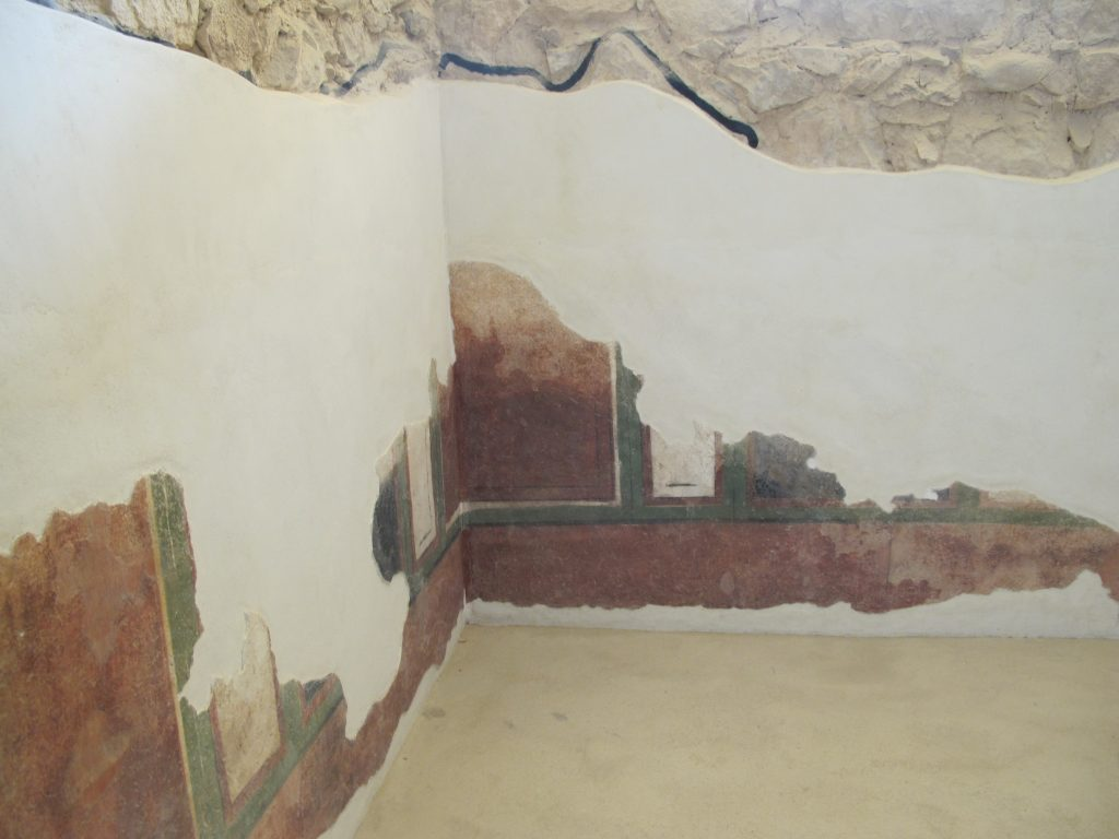 Paint left of the palace.