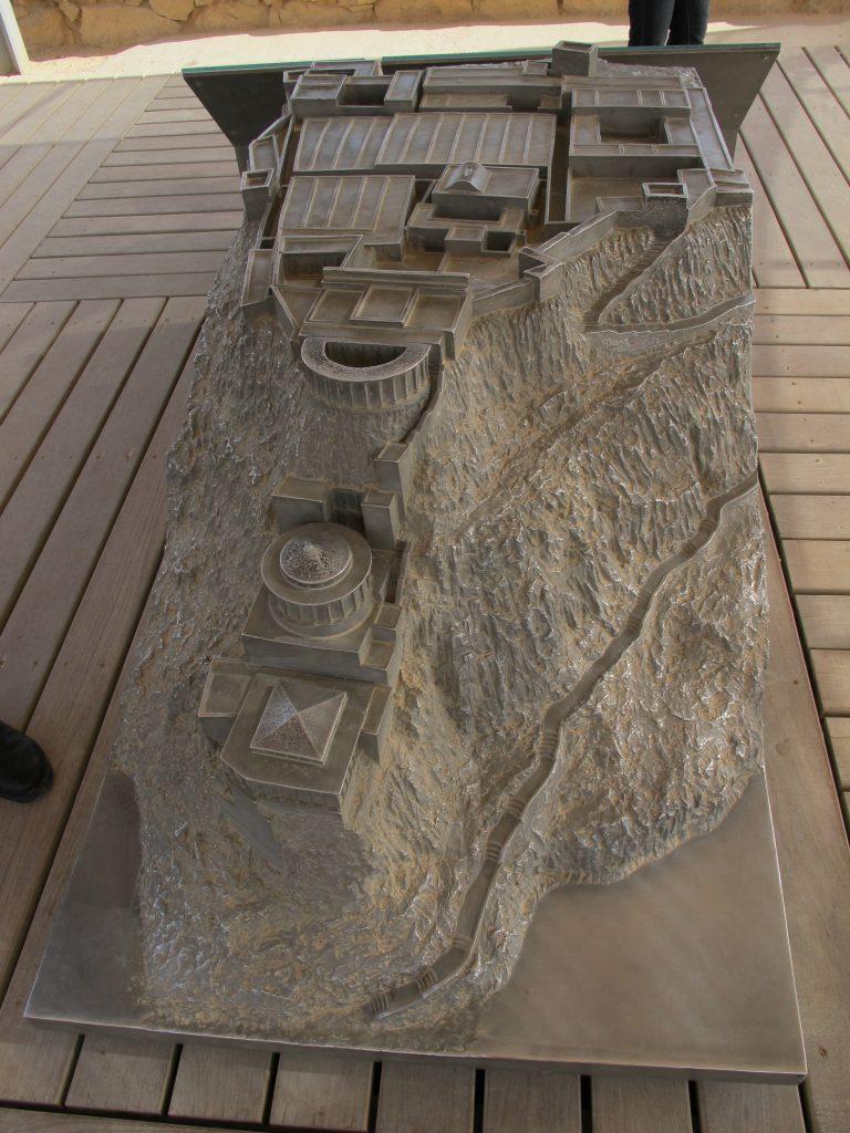 Model of the Masada fortress.