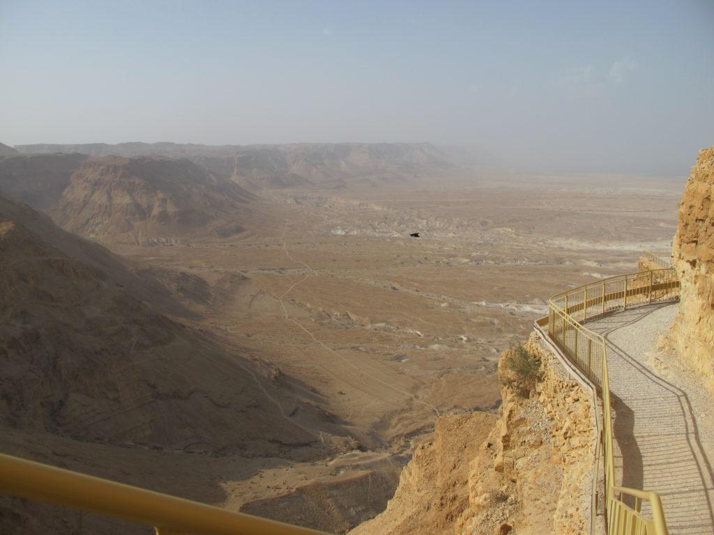 View of the open desert below.