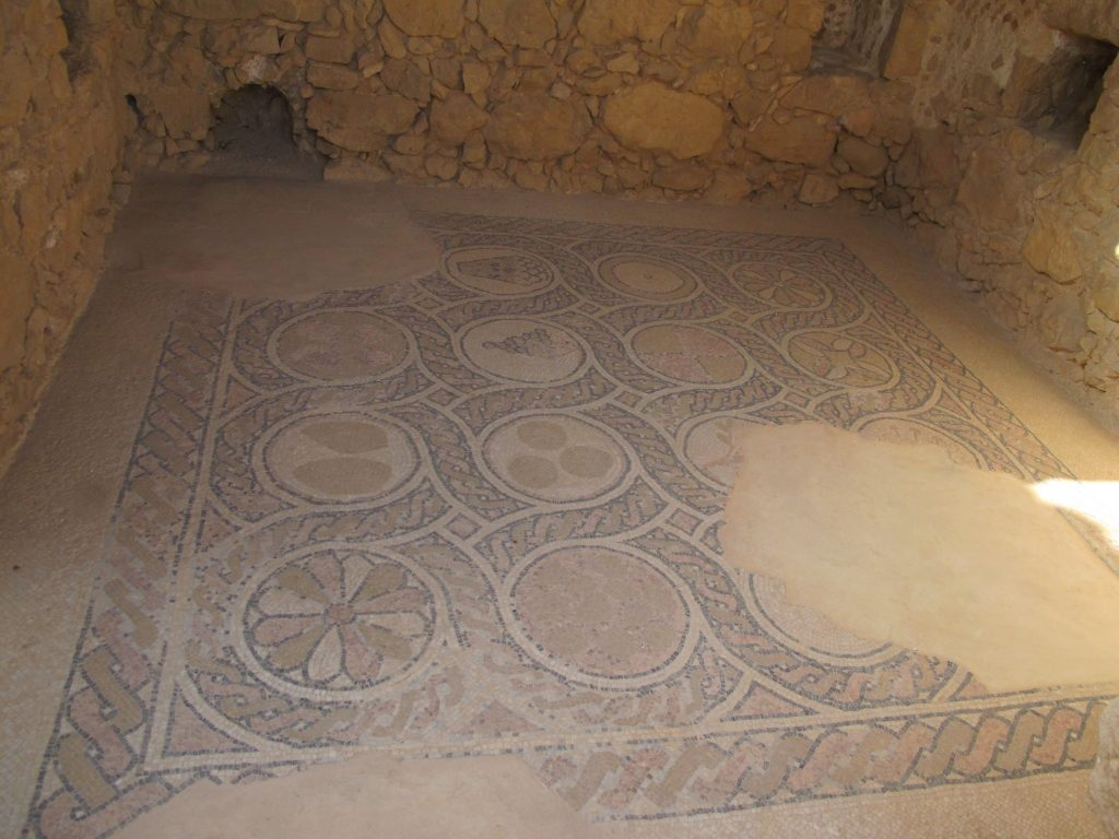 Mosaics in the fortress.