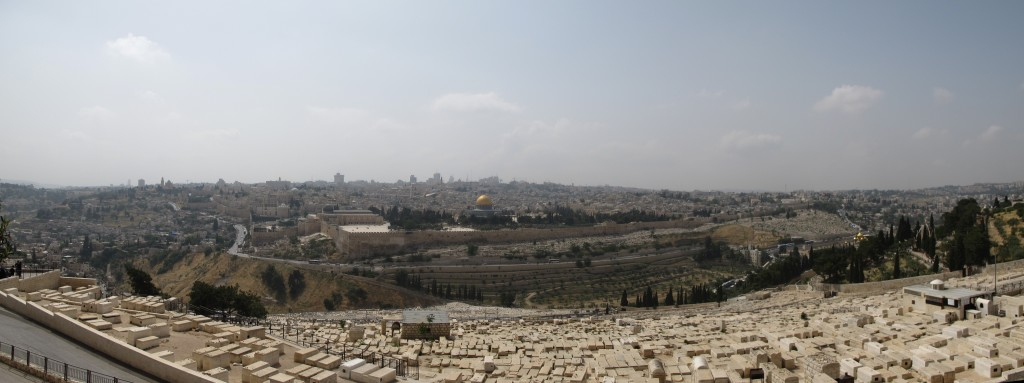 Panoramic view from the Mount of Olives.