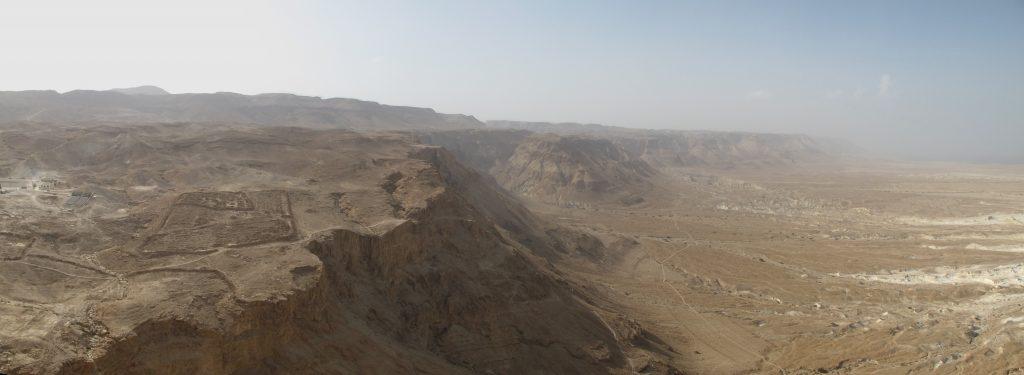 Landscape seen from Masada.
