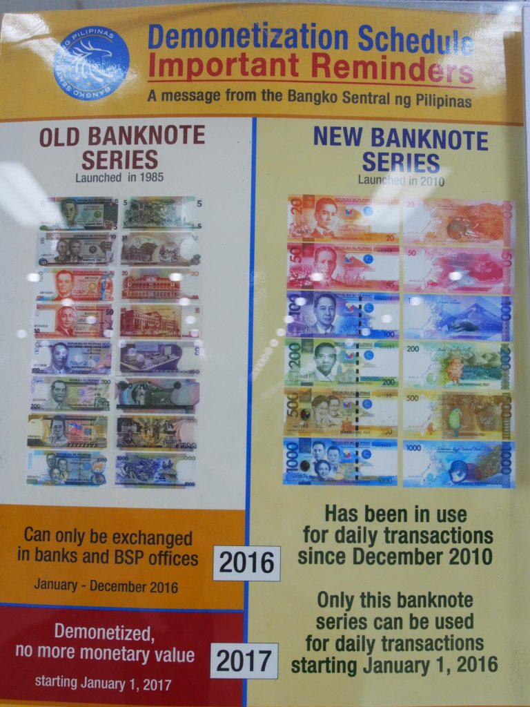 Demonetization of old notes.