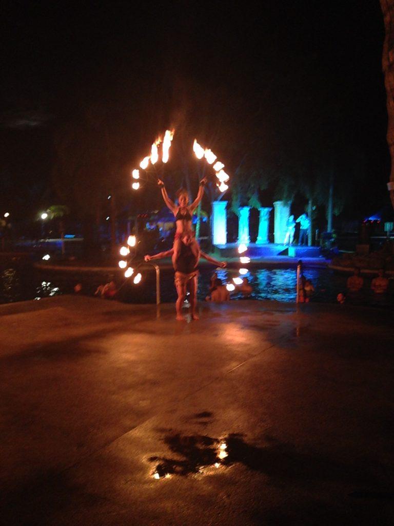 Fire dancers.