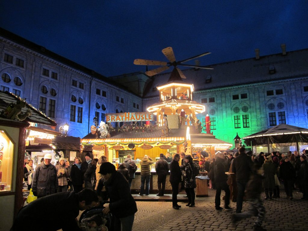 And places were lighted up. Funfair.