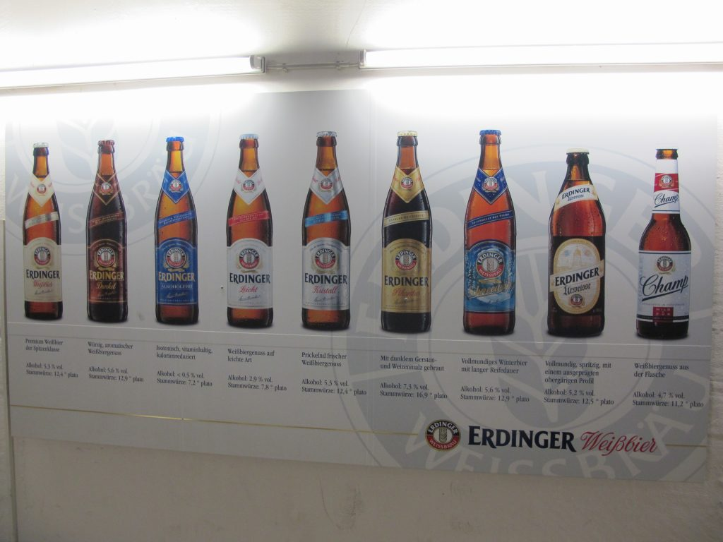A wide range of beers.