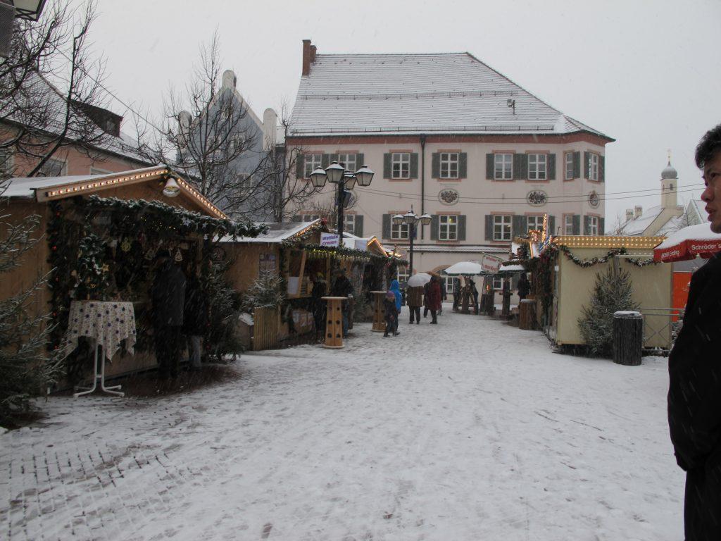 At the markets near the hotel.