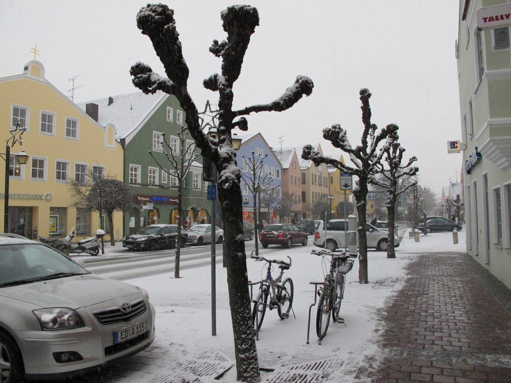 Street in Erding.