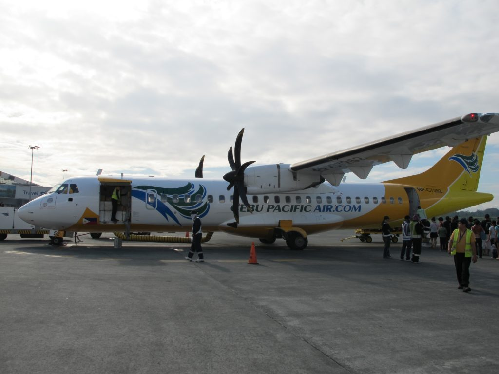 Propeller airplane to Boracay.