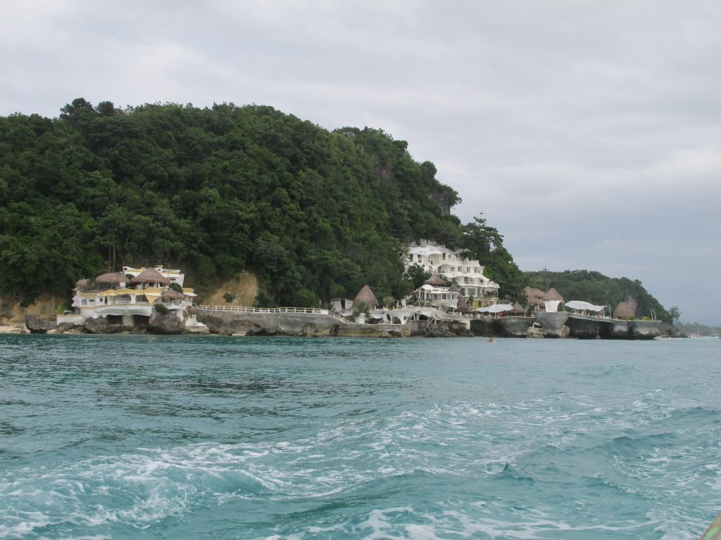 Nice cliff hotel around Boracay.